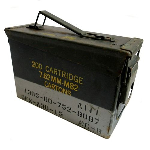 Genuine Ex Military 30 cal Ammunition Storage Box