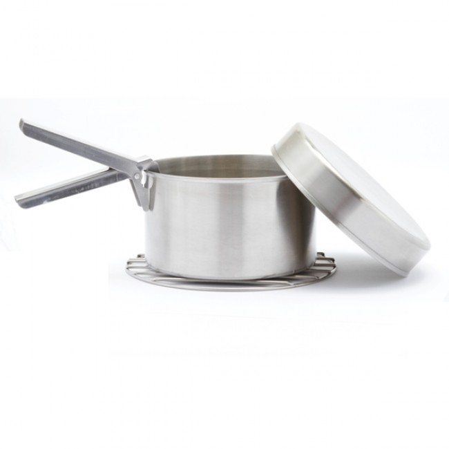 Kelly Kettle Large Cook Set (Stainless) For Base Camp & Scout