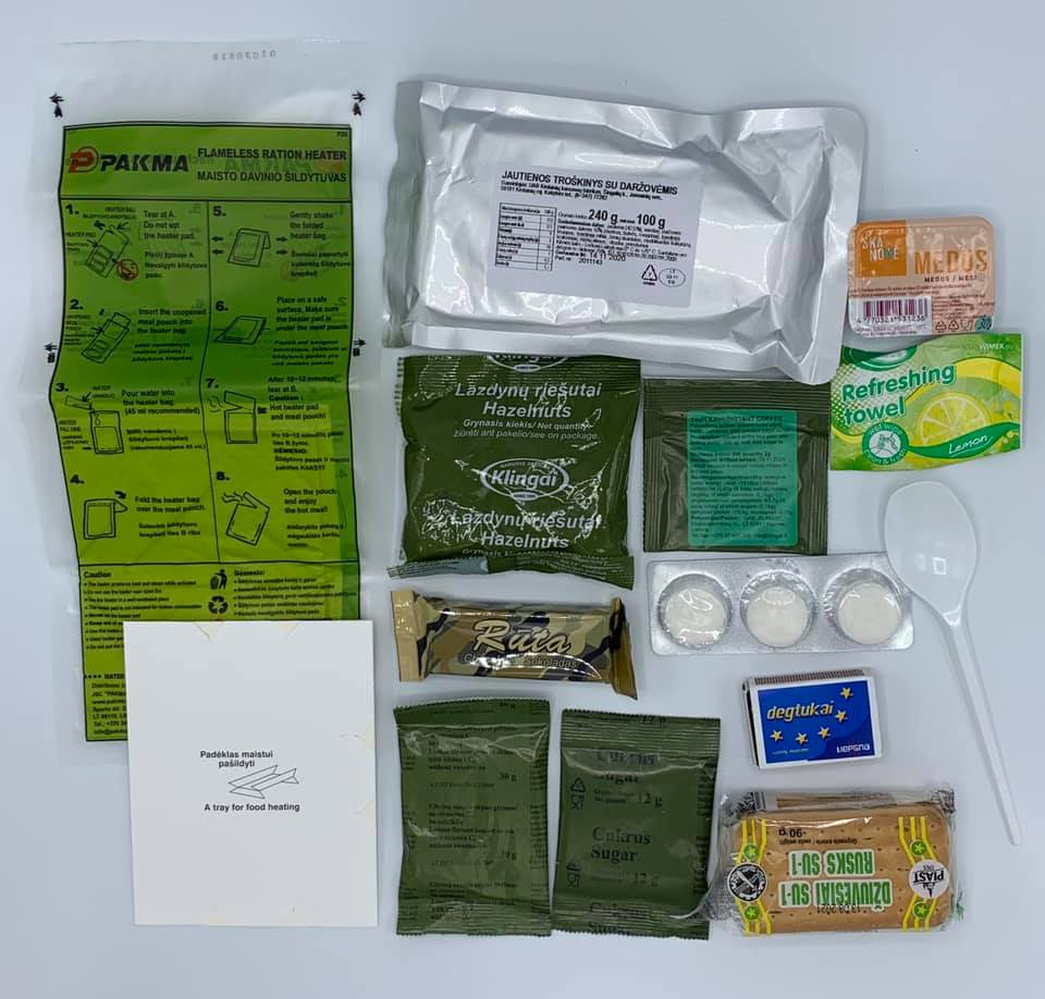 Lithuanian Military MRE Ration Pack