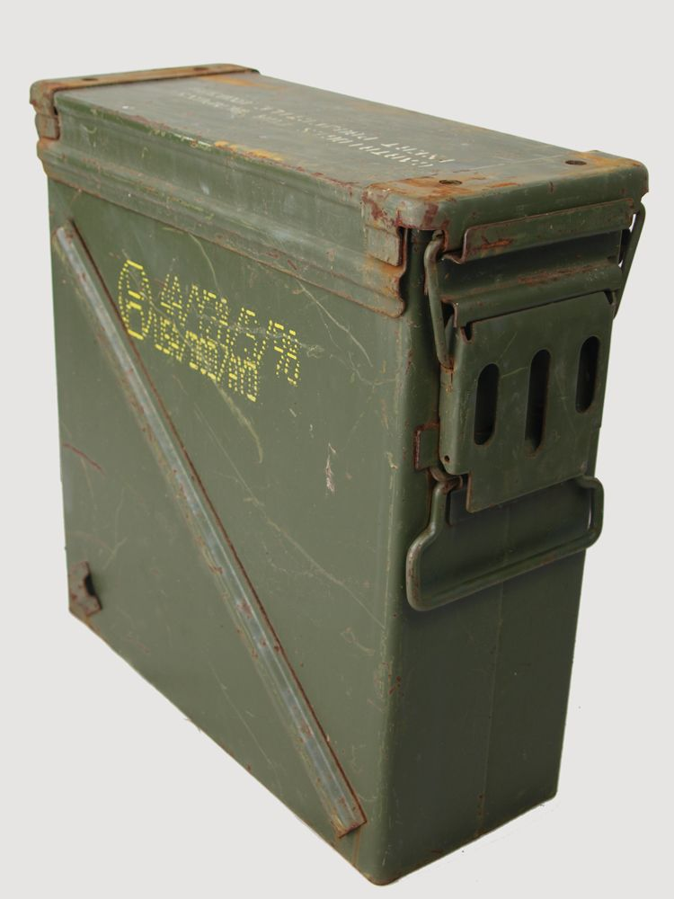US Military 25mm canon ammo box