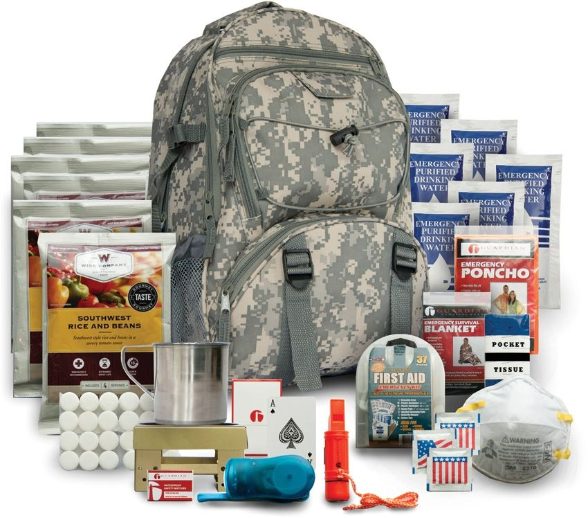 Wise Company 5 Day Pre Made Bug Out Bag - Camo